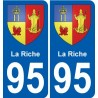 95 Wy-dit-Joli-Village coat of arms sticker plate stickers city