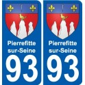 93 Pierrefitte-sur-Seine coat of arms sticker plate stickers city