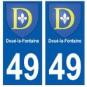 49 Doué-la-Fontaine blason autocollant plaque stickers ville
