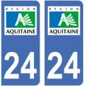 24 Dordogne autocollant plaque