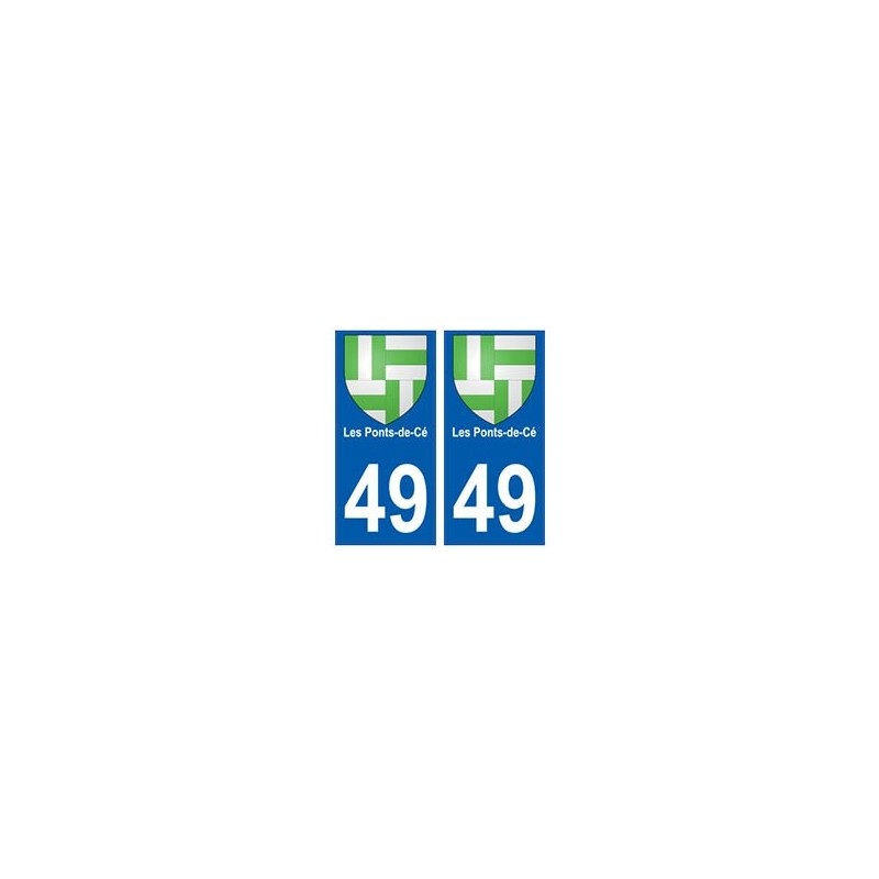 49 les ponts de c blason autocollant plaque immatriculation stickers ville. Black Bedroom Furniture Sets. Home Design Ideas