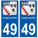 49 Longué-Jumelles blason autocollant plaque stickers ville