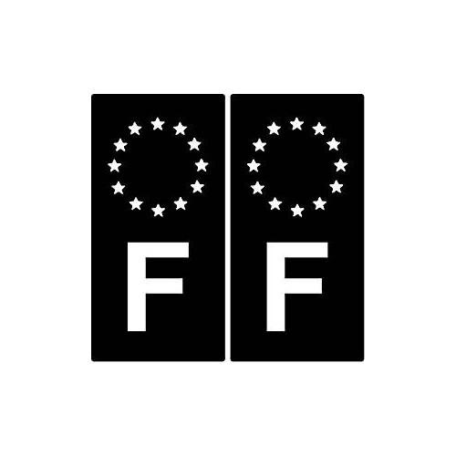 F Europe black sticker plate