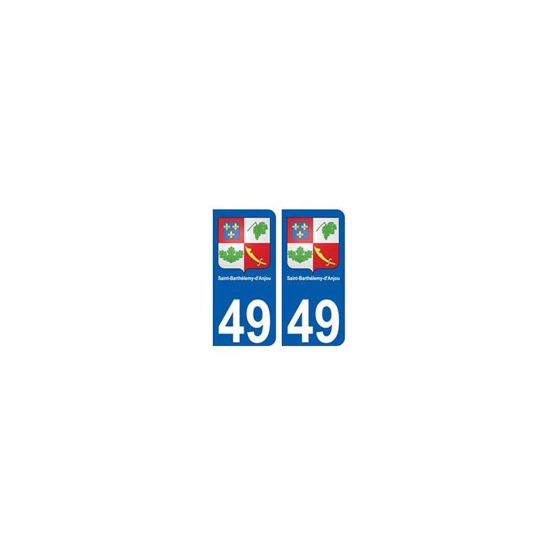 49 saint barth lemy d 39 anjou blason autocollant plaque immatriculation stickers ville - Piscine saint barthelemy d anjou ...