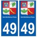 49 Saint-Barthélemy-d'Anjou blason autocollant plaque stickers ville