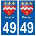49 Saumur blason autocollant plaque stickers ville