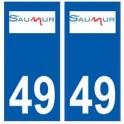 49 Saumur logo autocollant plaque stickers ville