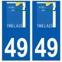 49 Trélazé logo autocollant plaque stickers ville