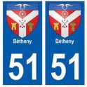 51 Bétheny blason autocollant plaque stickers ville
