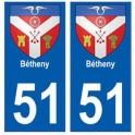 51 Bétheny blason autocollant plaque stickers ville
