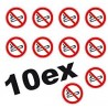 Interdiction de fumer 10 petits Autocollants ROND 5cm INTERDIT DE FUMER logo 28 sticker
