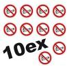 Interdiction de fumer 10 petits Autocollants ROND 5cm INTERDIT DE FUMER logo 28 sticker