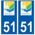 51 Chalons-en-Champagne logo autocollant plaque stickers ville