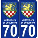 70 Aillevillers-et-Lyaumont coat of arms sticker plate stickers city