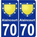 70 Alaincourt coat of arms sticker plate stickers city