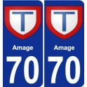 70 Amage coat of arms sticker plate stickers city