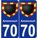 70 Amoncourt coat of arms sticker plate stickers city