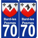 70 Bard-les-Pesmes coat of arms sticker plate stickers city