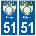 51 Reims blason autocollant plaque stickers ville