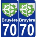 70 Bruyère coat of arms sticker plate stickers city