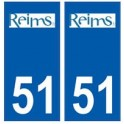 51 Reims logo autocollant plaque stickers ville