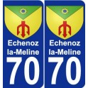70 Echenoz_la_Meline coat of arms sticker plate stickers city