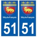 51 Vitry-le-François blason autocollant plaque stickers ville