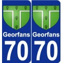 70 Georfans coat of arms sticker plate stickers city
