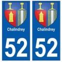 52 Chalindrey blason autocollant plaque stickers ville