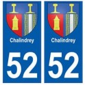 52 Chalindrey blason autocollant plaque stickers ville