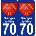 70 Granges-la-Ville coat of arms sticker plate stickers city