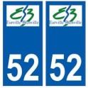 52 Eurville-Bienville logo autocollant plaque stickers ville