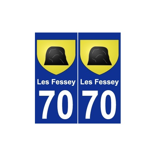 70 Les Fessey coat of arms sticker plate stickers city