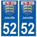 52 Joinville blason autocollant plaque stickers ville