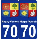 70 Magny-Vernois coat of arms sticker plate stickers city