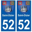 52 Saint-Dizier blason autocollant plaque stickers ville
