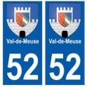 52 Val-de-Meuse blason autocollant plaque stickers ville