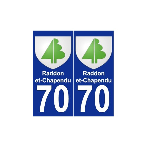 70 Raddon-et-Chapendu coat of arms sticker plate stickers city