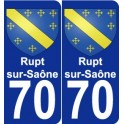 70 Rupt-sur-Saône coat of arms sticker plate stickers city