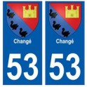 53 Changé blason autocollant plaque stickers ville