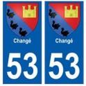 53 Changé blason autocollant plaque stickers ville