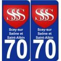 70 Scey-sur-Saône-et-Saint-Albin coat of arms sticker plate stickers city