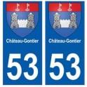 53 Château-Gontier blason autocollant plaque stickers ville
