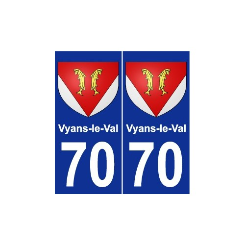 70 Vyans-le-Val coat of arms sticker plate stickers city