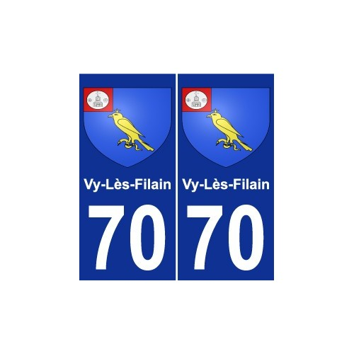 70 Vy-Lès-Filain coat of arms sticker plate stickers city