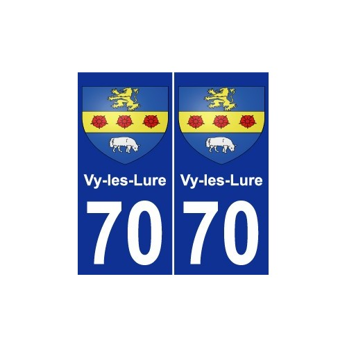 70 Vy-les-Lure coat of arms sticker plate stickers city