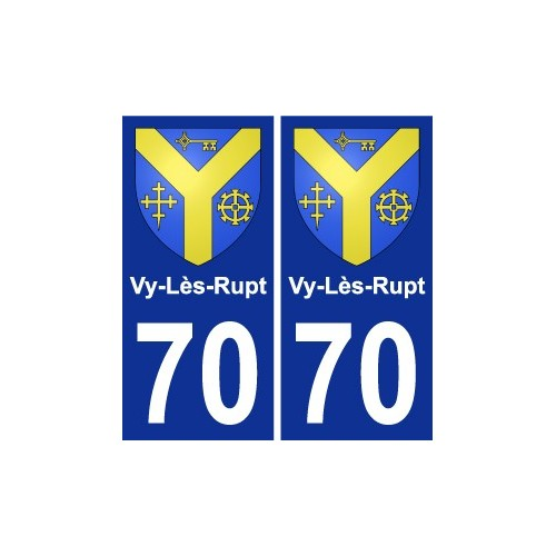 70 Vy-Lès-Rupt coat of arms sticker plate stickers city