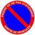 Prohibición de estacionamiento de la etiqueta engomada adhesiva