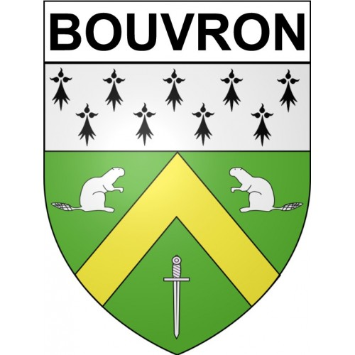 Stickers coat of arms Bouvron adhesive sticker