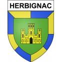 Pegatinas escudo de armas de Herbignac adhesivo de la etiqueta engomada